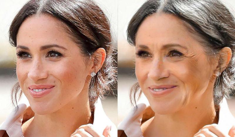 Врачи показали, как будут выглядеть Меган Маркл и Кейт Миддлтон в старости