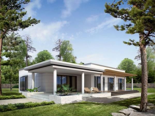 красивые современные одноэтажные дома, фото 17