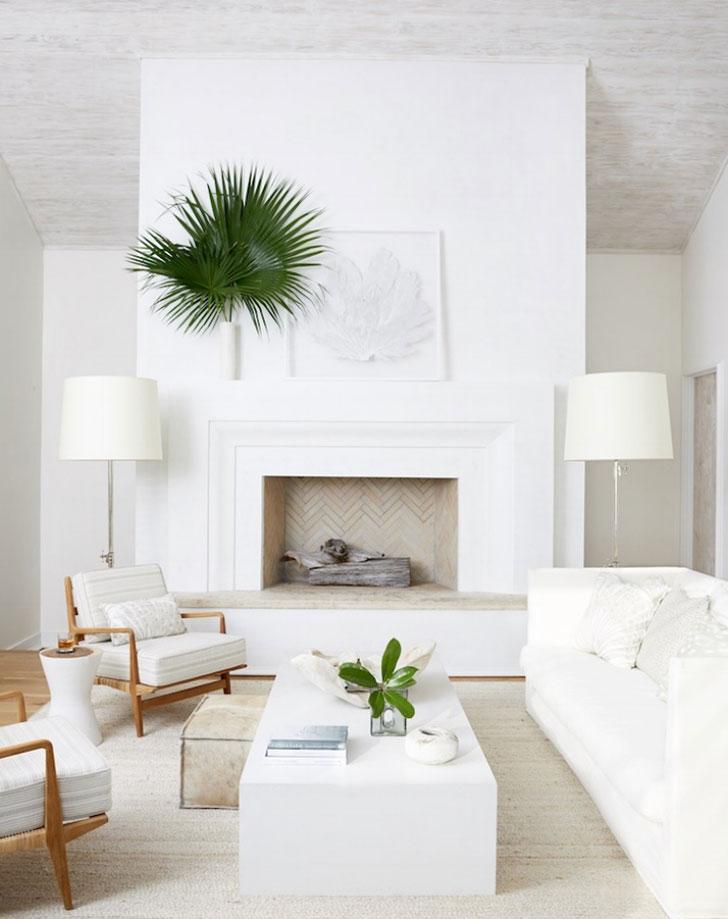 Белый «замок»: дом во Флориде с белоснежным интерьером в морской тематике