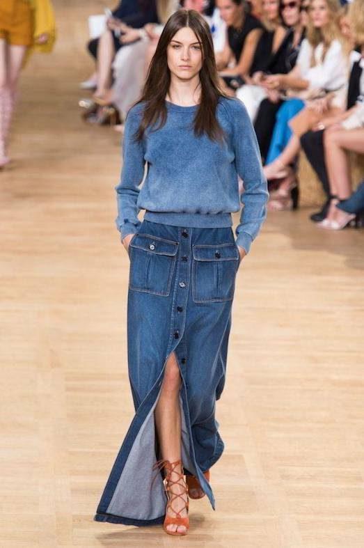 Юбка из денима — модно или пошло? лучшее,мода,модные советы,Наряды