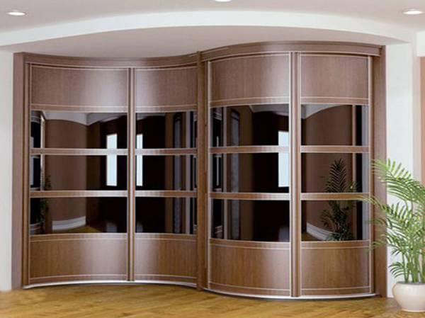 зеркальные двери в гардеробную раздвижные фото, фото 22