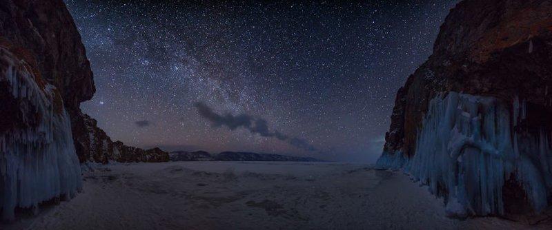 Ночь в Сибири Зимняя сказка, байкал, зима, красота, лед, снег, фото, фоторепортаж