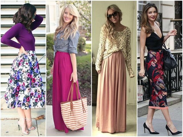 Красивую и удобную юбку можно сшить своими руками