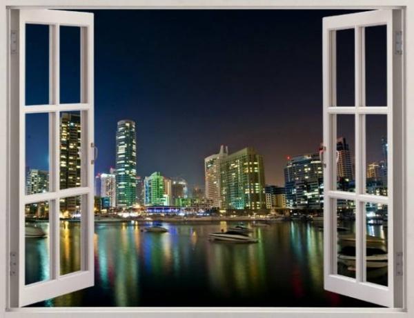 фотообои окно