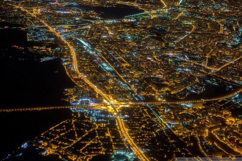 Москва с борта самолёта (15 фото)