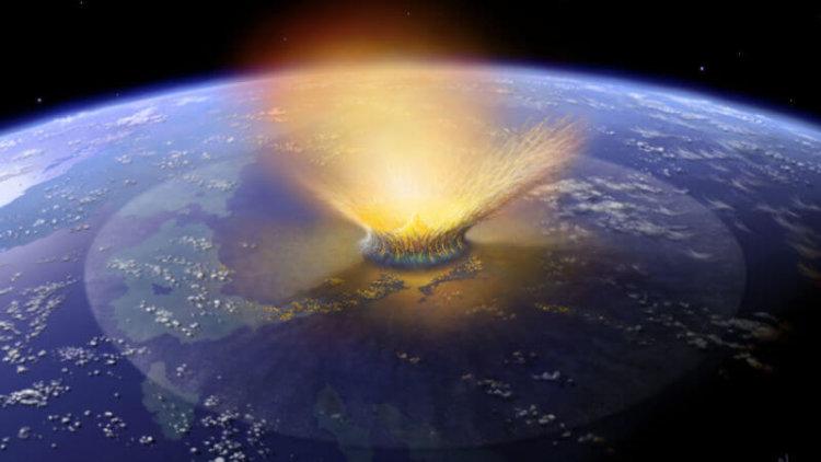 Что случится, если в океан упадет большой  метеорит?