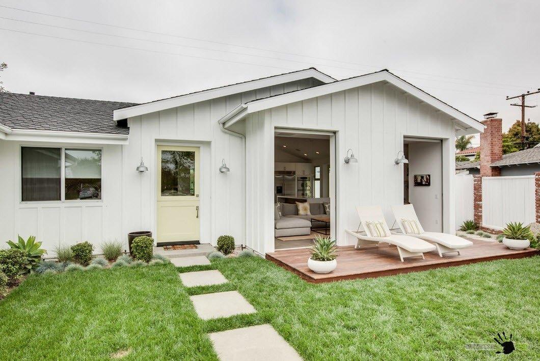 дизайн частного дома в белом цвете фото версии