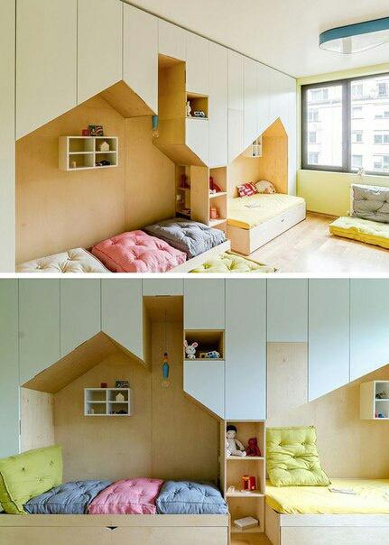 Домики кровати