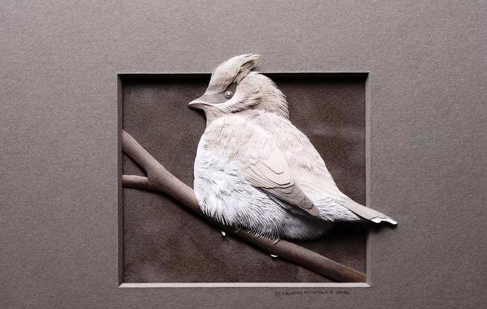 Невероятные бумажные скульптуры животных и птиц c 3D-эффектом