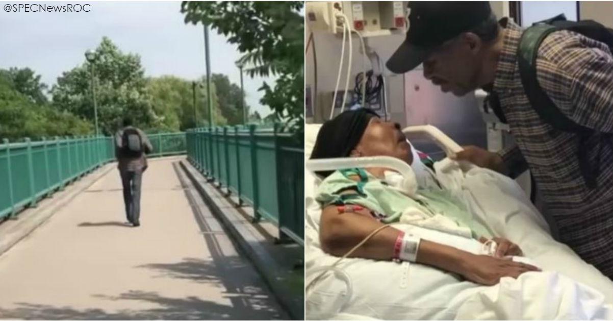 Знакомьтесь: 98-летний мужик каждый день ходит по 10 км в больницу к жене