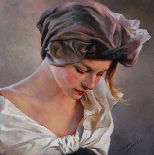 Художник Gianni Strino. Прекрасные женщины Неаполя