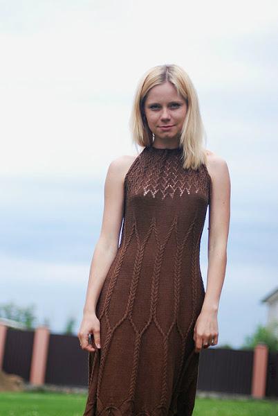 """Помогите найти схему вязания !!!! Платье шёлковое """"Шоколад"""""""