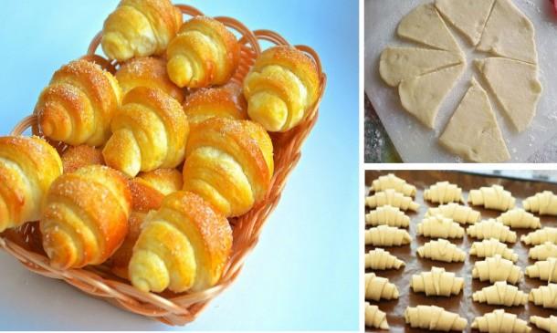 Рецепт дня — сладкие рогалики с обалденно вкусного теста!