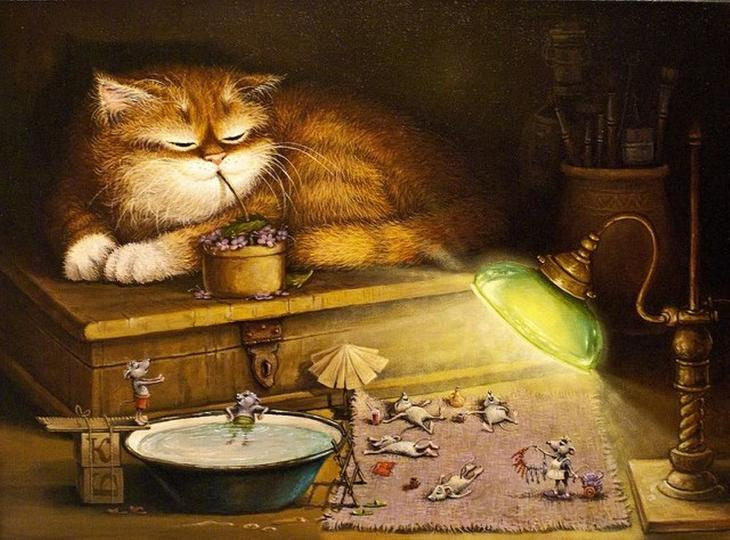 Кошачьи сказки художника Александра Маскаева