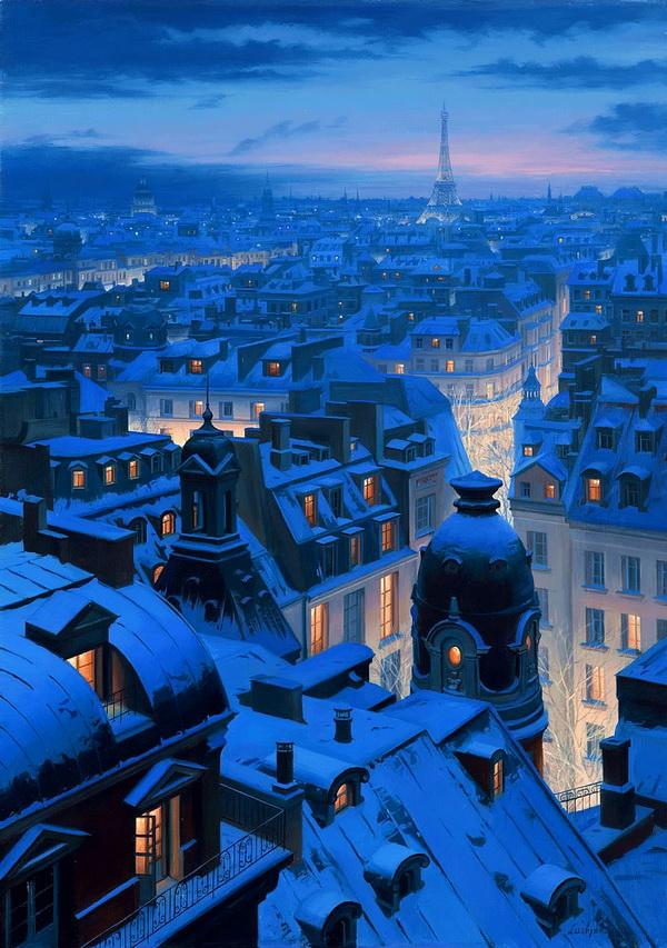 Прекрасные городские пейзажи художника Евгения Лушпина