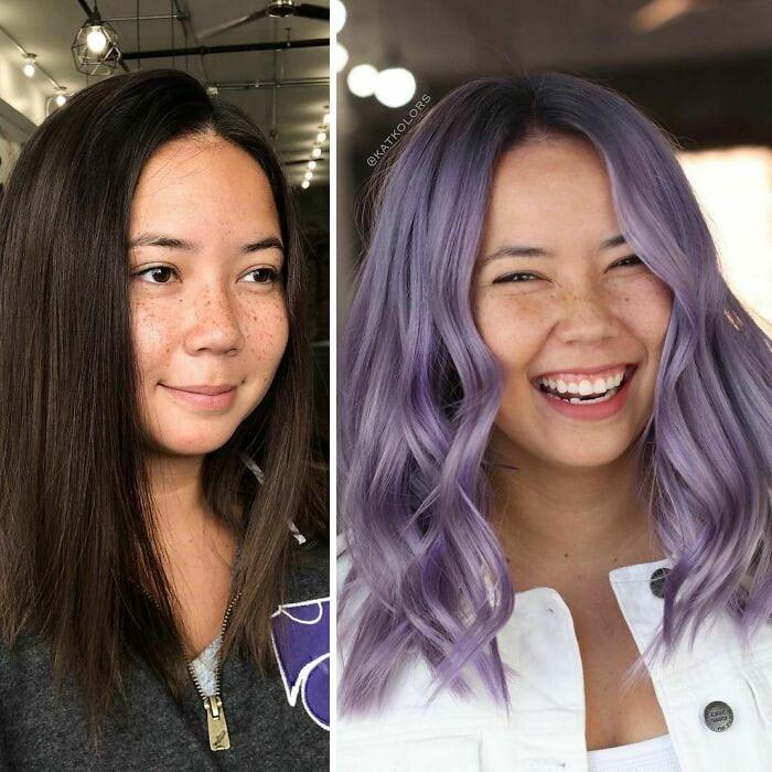 28 женщин, которые выбрали необычный цвет волос