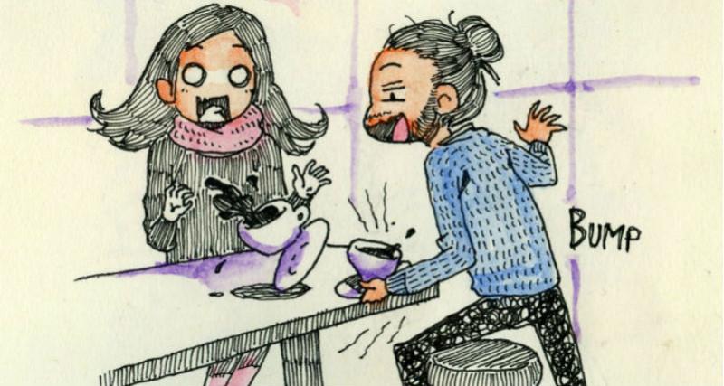 Из Италии в Канаду на первое свидание: художник нарисовал комикс о первой встрече с возлюбленной