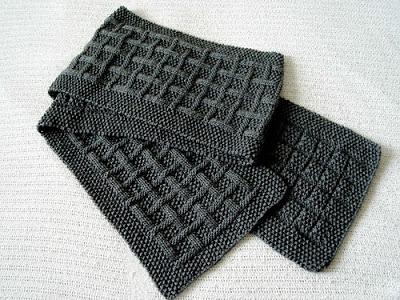 Мужской шарф с эффектным узором / His (Birthday) scarf