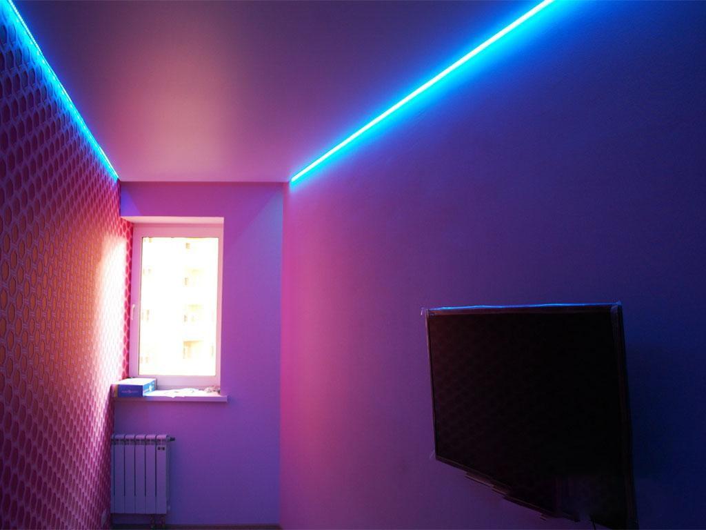 Парящий потолок: разновидности конструкций, форм, цвета, идеи дизайна в интерьере-5