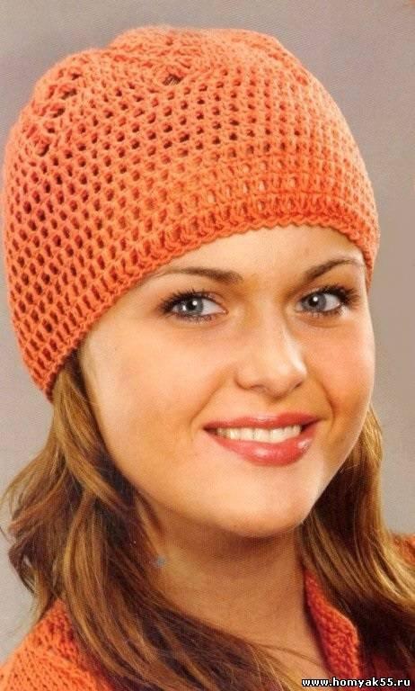 вязаные шапки крючком для женщин на примере осенних и зимних моделей