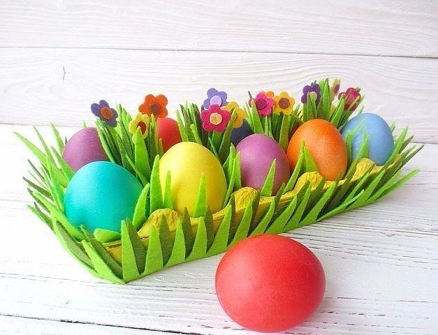 Идея для творчества с детьми. Подставка для пасхальных яиц.