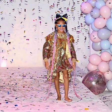 Личный стилист дочери Бейонсе и Джей-Зи Блу Айви поделился ее новыми снимками из яркой фотосессии Звездные дети