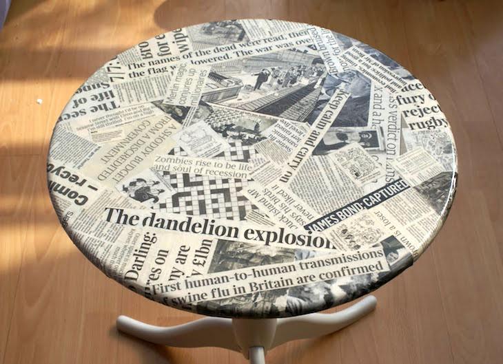 Мебель тоже можно преобразить, если поверхность стола уже выглядит не очень газета, крутые советы, переработка, полезные хитрости, фото, что можно сделать
