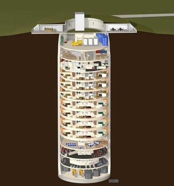 Многоквартирный дом-бункер для выживания