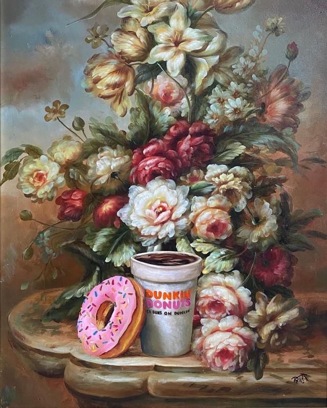 Художник, который привносит новую жизнь в старые картины прекрасное,удивительное