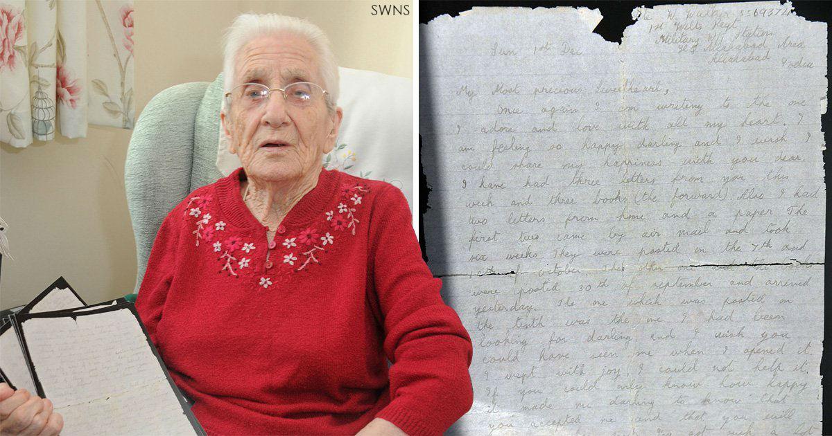 99-летняя прабабушка получила любовное письмо от солдата, пропавшего 77 лет назад