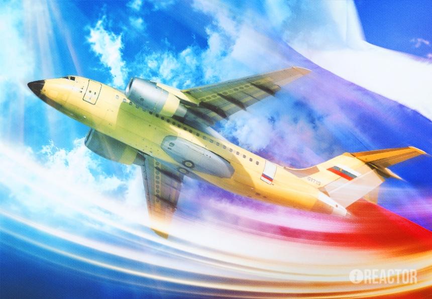 «Саратовское чудо»: Россия впервые представила турбореактивный самолет Ан-148