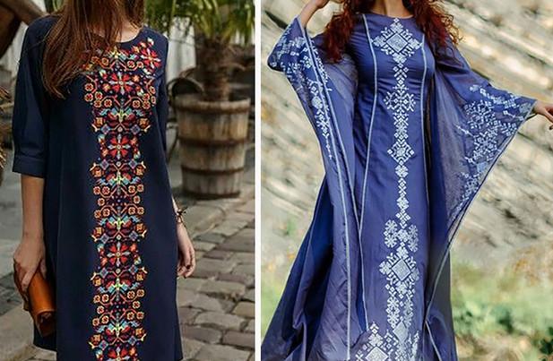 Современные платья с вышивкой: идеи