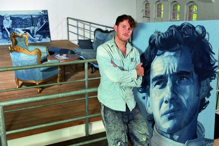 Картины из денима: как из джинсов сделать произведение искусств картины,мастер-класс,творчество