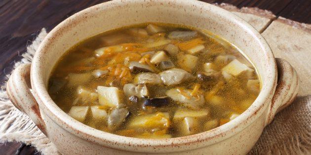 Суп из свежих белых грибов с картошкой