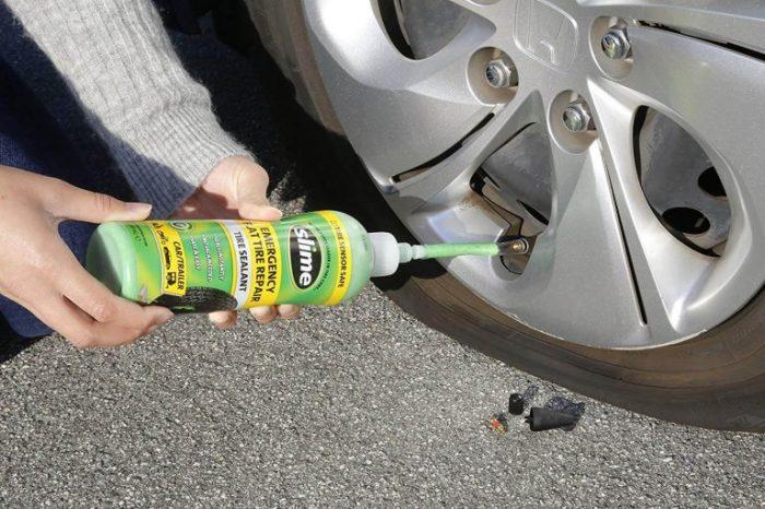 Как починить в дороге бескамерную шину без специального ремонтного набора авто и мото,автоновости