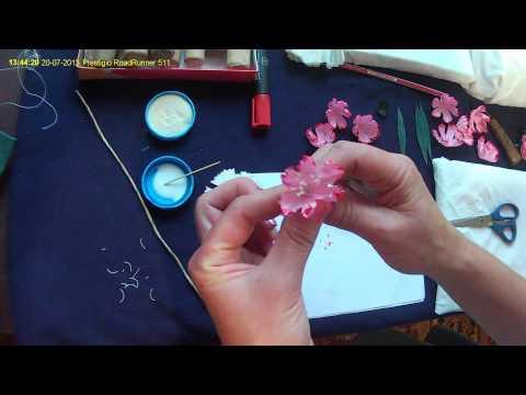 Цветы из ткани (гвоздика )