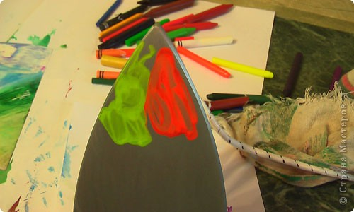 Картина, панно, рисунок, Мастер-класс Энкаустика: как я рисую утюгом Воск. Фото 11