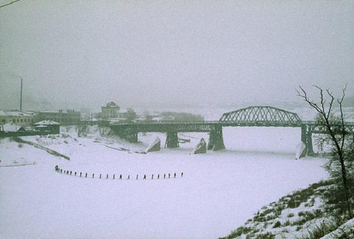 Мост через реку Тура в Тюмени.