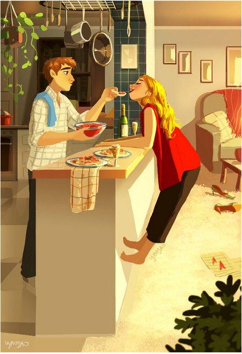 Добрые иллюстрации о том, как мало нужно человеку для счастья иллюстрация