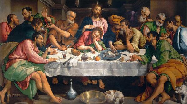 Якопо Бассано. Тайная вечеря. 1546