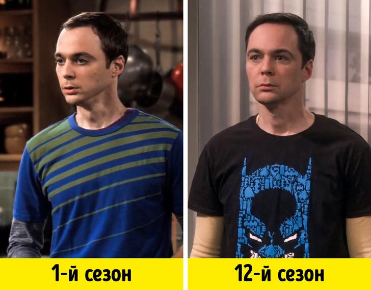 Как изменились герои -Теории Большого взрыва- со своего первого появления в сериале (На днях вышла последняя серия!)