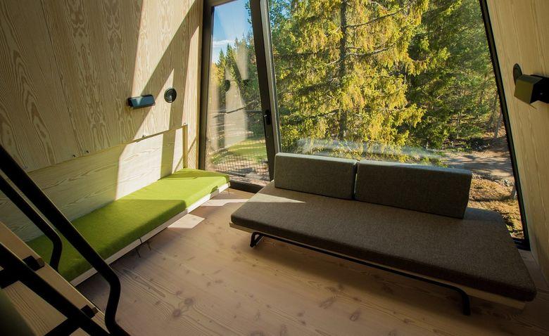 Каникулы в сказке: уютный и современный домик над лесом