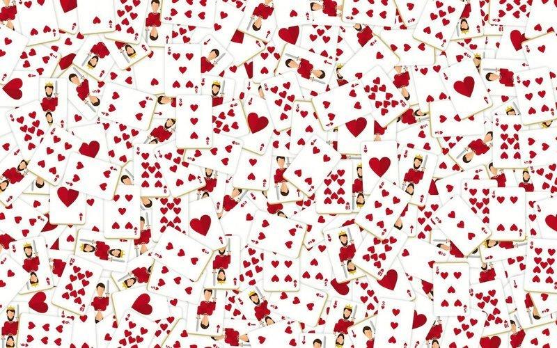 11. Червонная дама где-то здесь головоломки, задача, иллюзия, интернет, прикол