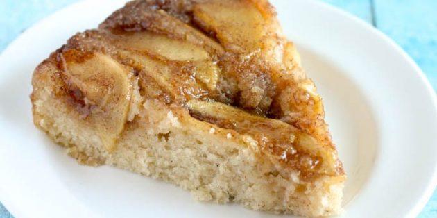 Рецепты с яблоками: Перевёрнутый яблочный пирог