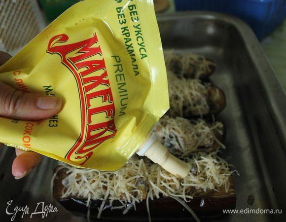 Баклажаны, запеченные с белыми грибами овощные блюда