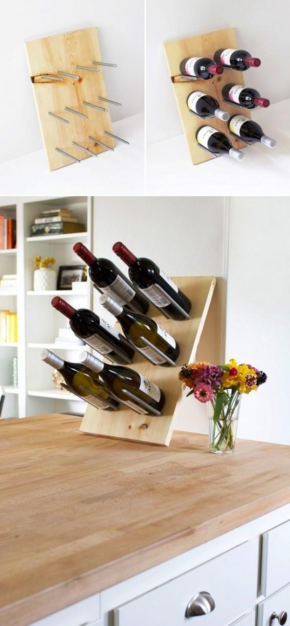 Вместо винного шкафа: 9 оригинальных бутылочниц, которые можно сделать самому
