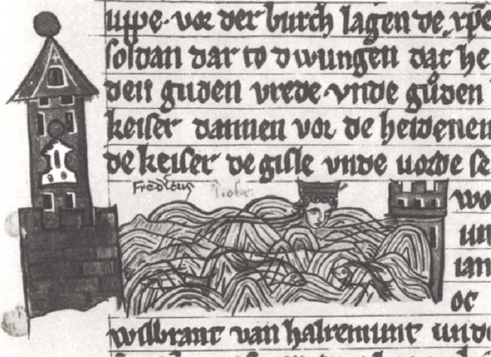 В хрониках факт нахождения короля в фекалиях изобразил и описал неизвестный историк.   Фото: bigpicture.ru.