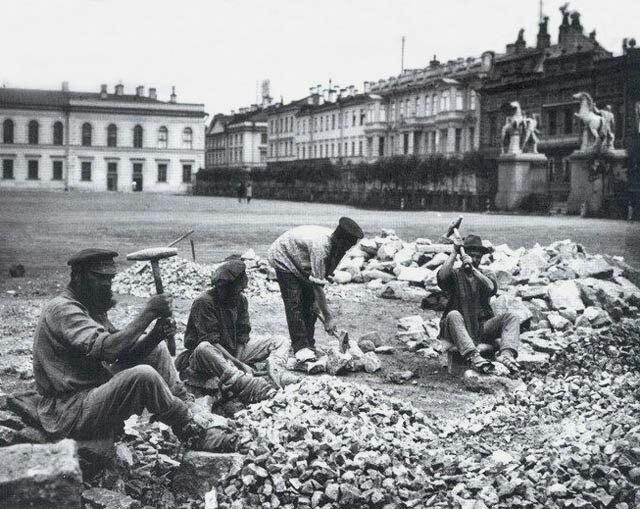 Каменщики на Конногвардейском переулке, Санкт-Петербург 19 век, жизнь до революции, редкие фотографии, снимки, фотографии, царская россия
