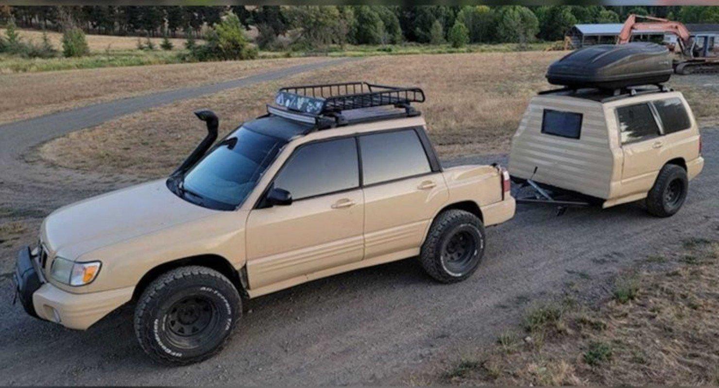 Из старого Subaru Forester сделали пикап с прицепом и выставили на продажу Автомобили