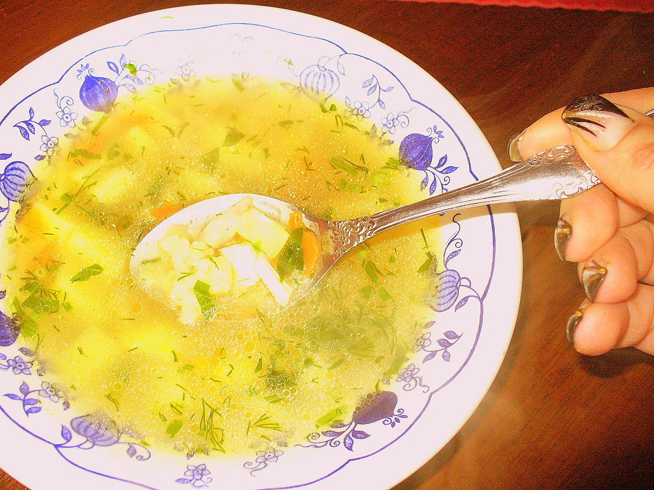Суп куриный с цветной капустой. Фото-рецепт. Olga Dell